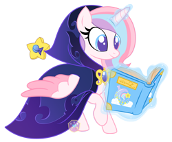 Size: 2000x1658 | Tagged: safe, artist:lovinglypromise, oc, oc:lullaby star, alicorn, book, female, magic, mare, simple background, solo, transparent background