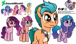 Size: 1539x900 | Tagged: safe, artist:artist:elponycebra, hitch trailblazer, izzy moonbow, pipp, sunny starscout, earth pony, pegasus, unicorn, my little pony: the movie, female, g5, male, mare, stallion