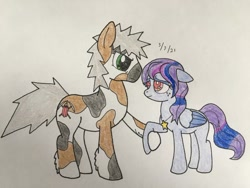 Size: 724x543 | Tagged: safe, artist:carty, oc, oc only, oc:astro stella, oc:carty, earth pony, pegasus