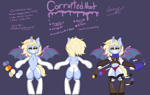Size: 3676x2326   Tagged: safe, artist:nootaz, oc, oc:corrupted noot, oc:nootaz, semi-anthro, reference sheet