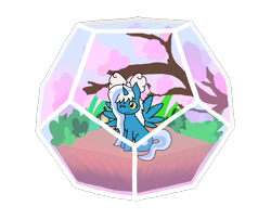 Size: 755x610 | Tagged: safe, artist:moccacino-latte, oc, oc:fleurbelle, alicorn, alicorn oc, bow, cherry blossoms, female, flower, flower blossom, hair bow, horn, mare, simple background, terrarium, transparent background, wings, yellow eyes