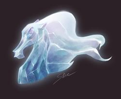 Size: 730x600 | Tagged: safe, artist:satine-pony, windigo, black background, crystal, ice, simple background, solo