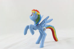 Size: 1280x854   Tagged: safe, artist:azgchip, rainbow dash, pegasus, pony, craft, female, mare, photo, rearing, sculpture, solo, spread wings, wax, wings