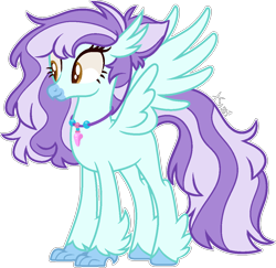 Size: 1128x1097 | Tagged: safe, artist:kurosawakuro, oc, oc:ocean breeze, classical hippogriff, hippogriff, female, simple background, solo, transparent background