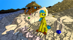 Size: 7213x4000 | Tagged: safe, oc, oc:banana creampie, earth pony, pony, solo, tilt brush