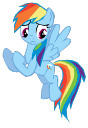 Size: 1280x1864 | Tagged: safe, artist:benpictures1, part of a set, rainbow dash, pegasus, pony, dragon quest, female, fighting stance, flying, inkscape, simple background, solo, transparent background, vector