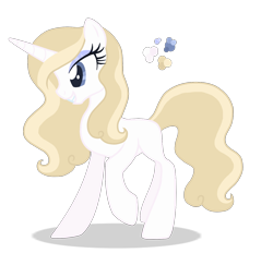 Size: 1400x1300 | Tagged: safe, artist:magicuniclaws, oc, pony, unicorn, female, mare, offspring, parent:fleur-de-lis, parent:prince blueblood, simple background, solo, transparent background