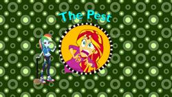 Size: 1280x720 | Tagged: safe, artist:ddart2019, edit, edited screencap, screencap, rainbow dash, sunset shimmer, equestria girls, rainbow rocks, arthur, crossover, eqg promo pose set, title card