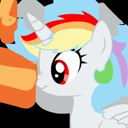 Size: 768x768   Tagged: safe, artist:rainbow dash is best pony, oc, oc only, oc:appletime, oc:rainbowrio, alicorn, pegasus, pony, alicorn oc, base used, boop, horn, pegasus oc, scrunchy face, simple background, transparent background, wings