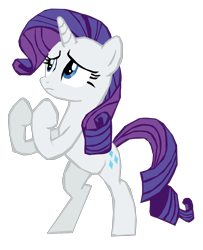 Size: 1280x1578 | Tagged: safe, artist:benpictures1, part of a set, rarity, pony, unicorn, dragon quest, bipedal, female, fighting stance, inkscape, looking up, martial artist rarity, simple background, solo, transparent background, vector