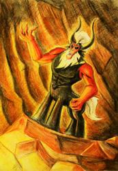 Size: 1195x1724 | Tagged: safe, artist:zryu, lord tirek, centaur, male, solo, traditional art