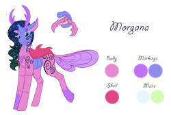 Size: 1280x860   Tagged: safe, artist:nobleclay, oc, oc:morgana, changedling, changeling, female, mandibles, simple background, solo, transparent background
