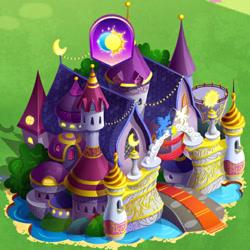 Size: 650x650 | Tagged: safe, gameloft, implied mane six, implied princess luna, the anonymous campsite