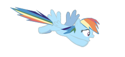 Size: 1280x591 | Tagged: safe, artist:benpictures1, rainbow dash, pegasus, pony, power ponies (episode), cute, dashabetes, female, flying, inkscape, mare, open mouth, simple background, solo, transparent background, vector