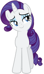Size: 4210x7000 | Tagged: safe, artist:stabzor, rarity, pony, unicorn, .svg available, female, mare, simple background, solo, transparent background, vector