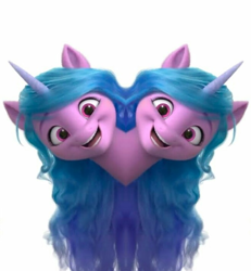 Size: 658x713 | Tagged: safe, izzy moonbow, unicorn, g5, mirrored