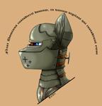 Size: 3232x3376 | Tagged: safe, artist:kviksi, oc, oc only, earth pony, pony, armor, blue eyes, knight, military, military pony, solo