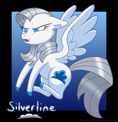 Size: 2336x2414 | Tagged: safe, artist:champion-of-namira, oc, oc:silverline, pegasus, pony, female, mare, solo