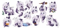 Size: 1024x493 | Tagged: safe, artist:ipun, oc, oc only, bat pony, bat pony oc, cute, female, mare, simple background, sketch, sketch dump, solo, white background