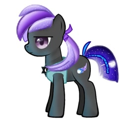Size: 768x768   Tagged: safe, artist:_meli.exe1388_, oc, oc only, earth pony, pony, earth pony oc, frown, simple background, solo, starry tail, white background