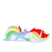 Size: 200x200   Tagged: safe, artist:rainbow dash is best pony, oc, oc only, oc:rainbowrio, alicorn, pony, alicorn oc, faceplant, flop, horn, not rainbow dash, simple background, solo, transparent background, wings