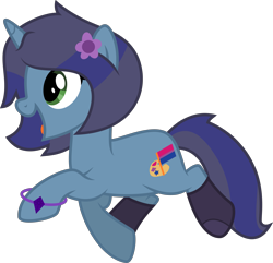 Size: 4143x4000 | Tagged: safe, artist:melisareb, oc, oc only, oc:savannah london, pony, unicorn, absurd resolution, bisexual pride flag, bracelet, clothes, female, inkscape, jewelry, mare, open mouth, pride, pride flag, simple background, socks, solo, transparent background, vector