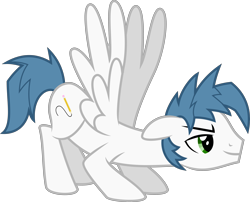 Size: 4947x4000 | Tagged: safe, artist:melisareb, oc, oc only, oc:white quartz, pegasus, pony, absurd resolution, badass, face down ass up, inkscape, male, simple background, solo, stallion, transparent background, vector, wings