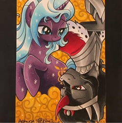 Size: 1080x1083   Tagged: safe, artist:brendahickey, idw, king sombra, radiant hope, shipping