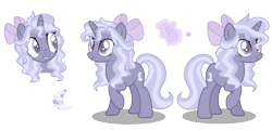 Size: 2121x1030 | Tagged: safe, artist:xxcheerupxxx, oc, pony, unicorn, bow, female, hair bow, magical lesbian spawn, mare, offspring, parent:starlight glimmer, parent:trixie, parents:startrix, simple background, solo, transparent background
