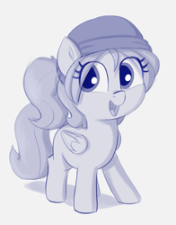 Size: 1275x1629 | Tagged: safe, artist:heretichesh, oc, unnamed oc, pegasus, beanie, female, filly, hat