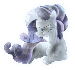 Size: 6000x5622 | Tagged: safe, artist:lincolnbrewsterfan, derpibooru exclusive, rarity, crystal pony, pony, unicorn, my little pony: the movie, absurd resolution, alternate hairstyle, crystal rarity, crystalline, crystallized, crystallized pony, determined, determined smile, ear piercing, earring, female, hairband, inkscape, jewelry, lying, lying down, mare, movie accurate, no base, piercing, prone, simple background, smiling, sparkles, transparent background, vector
