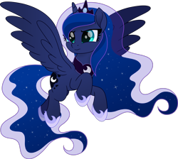 Size: 5039x4510   Tagged: safe, artist:pumpkinpieforlife, princess luna, alicorn, pony, my little pony: the movie, absurd resolution, ethereal mane, female, hoof shoes, jewelry, mare, movie accurate, regalia, simple background, solo, starry mane, starry tail, transparent background, vector