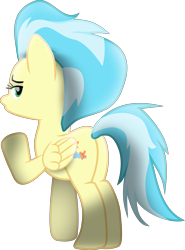 Size: 8587x11605 | Tagged: safe, artist:lincolnbrewsterfan, derpibooru exclusive, misty fly, pegasus, pony, grannies gone wild, my little pony: the movie, .svg available, 3/4 view, absurd resolution, bedroom eyes, blowing a kiss, butt, female, folded wings, highlights, inkscape, lidded eyes, looking at you, looking back, looking back at you, mare, missing accessory, movie accurate, moviefied, out of context, plot, raised hoof, raised tail, rear view, shading, show moviefied, simple background, solo, svg, tail, transparent background, vector, wings, wonderbolts