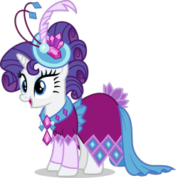 Size: 4000x4056   Tagged: safe, artist:ambassad0r, rarity, pony, unicorn, make new friends but keep discord, alternate hairstyle, clothes, dress, female, gala dress, mare, simple background, solo, transparent background, vector