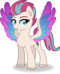Size: 3217x4000 | Tagged: safe, artist:limedazzle, zipp storm, pegasus, pony, g5, cloven hooves, cutie mark, female, mare, simple background, smiling, solo, transparent background