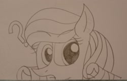 Size: 3128x1984   Tagged: safe, artist:muhammad yunus, oc, oc only, oc:annisa trihapsari, earth pony, pony, base used, earth pony oc, female, gritted teeth, looking at you, mare, not rarity, question mark, solo, teeth, traditional art