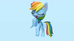 Size: 1920x1080 | Tagged: safe, screencap, rainbow dash, pony, my little pony: stop motion short, pillow fight (short), pony life, pillow, solo, stop motion, yawn