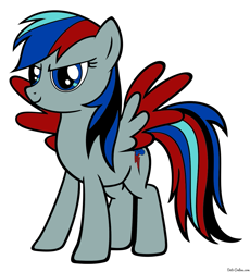 Size: 1103x1200 | Tagged: safe, artist:uaflame, pony, luhansk people's republic, nation ponies, not rainbow dash, ponified