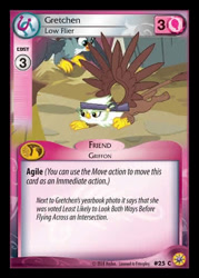 Size: 344x480 | Tagged: safe, gabby, gretchen, griffon, the fault in our cutie marks, ccg, enterplay, female, friends forever (enterplay), griffonstone, merchandise, solo focus
