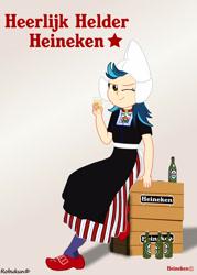Size: 2070x2898 | Tagged: safe, artist:robukun, indigo zap, equestria girls, dutch, dutch cap, hat, heineken