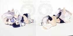 Size: 1024x512 | Tagged: safe, artist:appledew, oc, oc:mei, pegasus, pony, chibi, irl, lying down, obtrusive watermark, photo, plushie, prone, solo, watermark