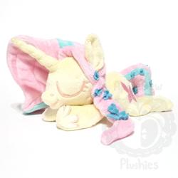 Size: 1000x1000 | Tagged: safe, artist:appledew, fluttershy, pony, chibi, irl, lying down, photo, plushie, prone, solo, watermark