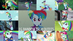 Size: 1280x720 | Tagged: safe, edit, edited screencap, editor:quoterific, screencap, applejack, fluttershy, rainbow dash, bird, parrot, blue crushed, dance magic, eqg summertime shorts, equestria girls, equestria girls (movie), equestria girls series, fluttershy's butterflies, friendship games, friendship through the ages, good vibes, leaping off the page, legend of everfree, opening night, rainbow rocks, shake your tail, sunset's backstage pass!, spoiler:eqg series (season 2), spoiler:eqg specials, annoyed, belly button, belt, blue skin, board shorts, cap, clothes, compression shorts, confident, costume, cute, cutie mark, cutie mark on clothes, dance magic (song), dashabetes, ear piercing, ecstasy, eyes closed, fall formal outfits, female, fluttershy's butterflies: rainbow dash, flying, friendship games motocross outfit, friendship games outfit, geode of super speed, gym shorts, happy, hat, helmet, indoors, jewelry, jungle, long hair, magical geodes, motocross outfit, motorcycle, motorcycle outfit, multicolored hair, music festival outfit, necklace, open mouth, outdoors, piercing, pink eyes, ponied up, ponytail, rainbow hair, rapper dash, shirt, short hair, shorts, shorts under skirt, side slit, skirt, smiling, surfboard, t-shirt, thumbs up, tomboy, tri-cross relay outfit, visor cap