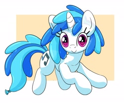 Size: 3000x2500 | Tagged: safe, alternate version, artist:makishi_ookami, dj pon-3, vinyl scratch, balloon pony, inflatable pony, balloon, c:, looking at you, missing accessory, smiling, solo