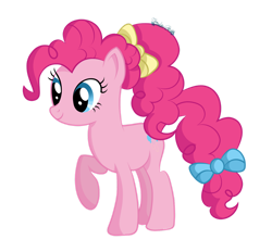 Size: 1280x1190 | Tagged: safe, artist:tenderrain-art, pinkie pie, pony, older, raised hoof, simple background, solo, transparent background
