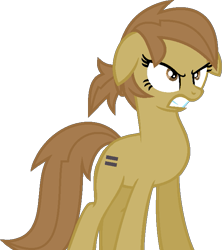 Size: 635x714 | Tagged: safe, artist:pegasski, oc, oc only, earth pony, pony, angry, base used, earth pony oc, equal cutie mark, eyelashes, female, gritted teeth, mare, simple background, solo, transparent background