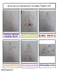 Size: 569x679 | Tagged: safe, artist:yediel_menes, shining armor, pony, unicorn, crossover, lineart, male, six fanarts, stallion, traditional art