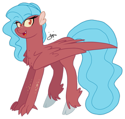Size: 1221x1161 | Tagged: safe, artist:gallantserver, oc, oc:turitella, hybrid, female, offspring, parent:garble, parent:princess skystar, simple background, solo, transparent background