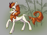 Size: 4000x3000 | Tagged: safe, artist:faline-art, autumn blaze, kirin, ear fluff, open mouth, solo