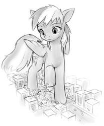 Size: 465x561 | Tagged: safe, artist:alloyrabbit, rainbow dash, pegasus, pony, destruction, female, giant pony, giantess, macro, mare, monochrome, raised hoof, stomping